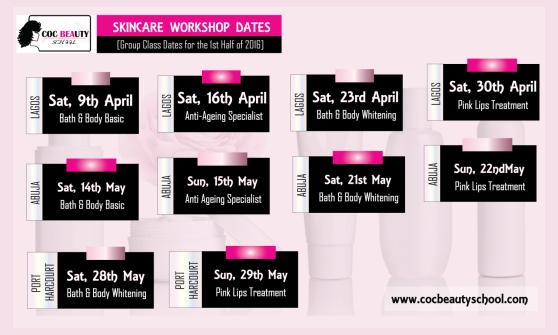 coc beauty school skincare workshop